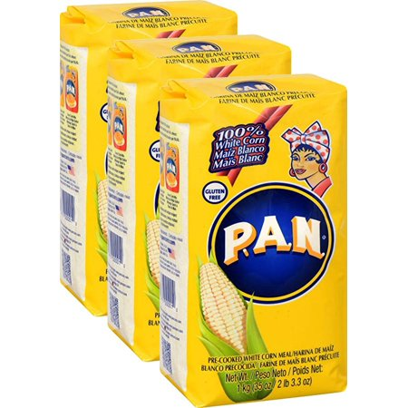 P.A.N. Precooked White Corn Meal 35.7 oz. Pack of 3 - Harina Pan Venezuela