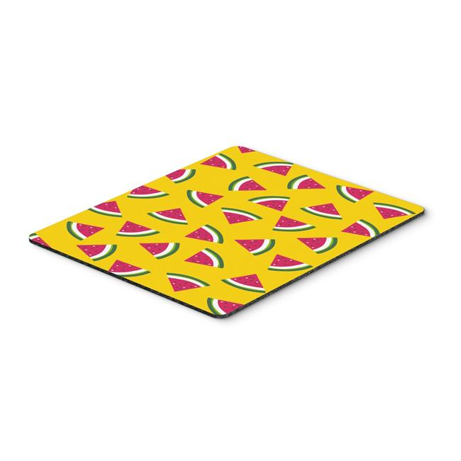 Watermelon on Yellow Mouse Pad, Hot Pad or Trivet