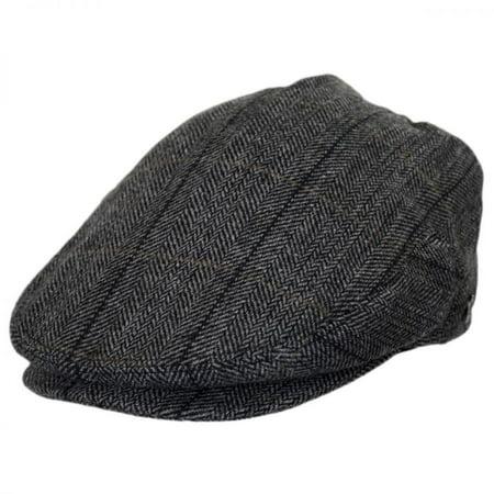 Holborn Herringbone Plaid Wool Blend Ivy Cap - XXL - Charcoal