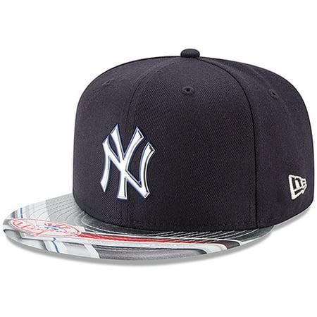 684b3f01f36 New York Yankees New Era 9FIFTY Topps Collaboration Snapback Adjustable Hat  - Navy Gray - OSFA - Walmart.com