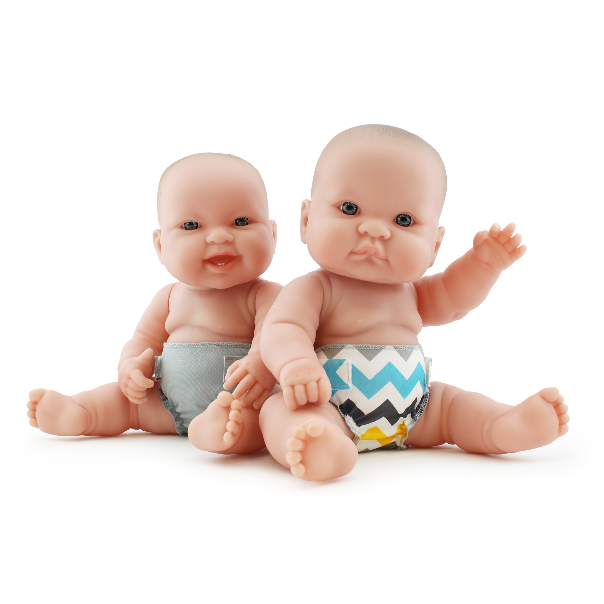 Rumparooz Doll Diaper Set - Charlie & Platinum