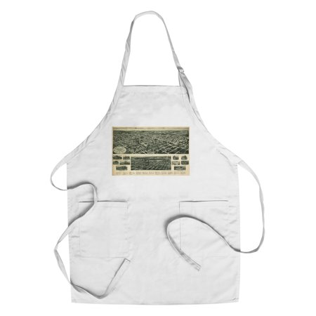 Valley Stream, New York - Panoramic Map (Cotton/Polyester Chef's Apron) (Century 21 Valley Stream)