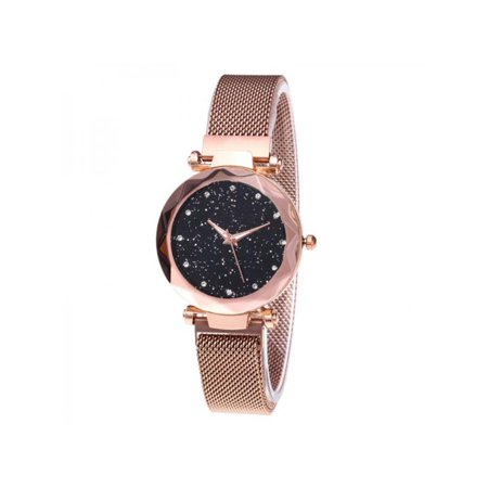 Women Lady Starry Sky Watch Waterproof Magnet Stainless Steel Strap Band Gift