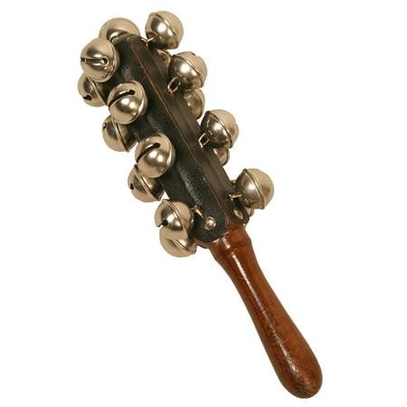 DOBANI Hand Sleigh Bells on Wooden Handle ()