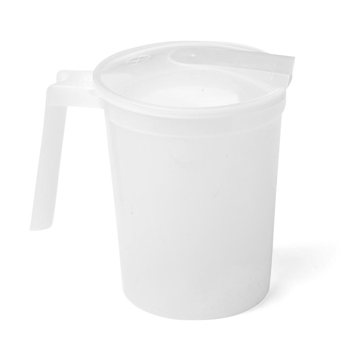 Medline  Non-Insulated Clear 32-ounce Plastic Pitcher with Lid (Case of 100)