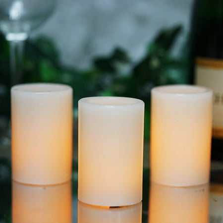 Fine Balsacircle 3 Pcs 3 In Tall White Led Pillar Candles Lights Home Wedding Party Event Centerpieces Decorations Home Interior And Landscaping Analalmasignezvosmurscom