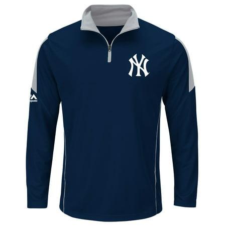 "New York Yankees Majestic MLB ""Status"" Cool Base 1 4 Zip Performance Shirt by"