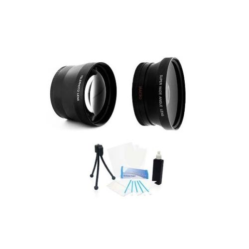 37mm HD 2.0x Telephoto and Wide Angle Lens Kit for Panaso...
