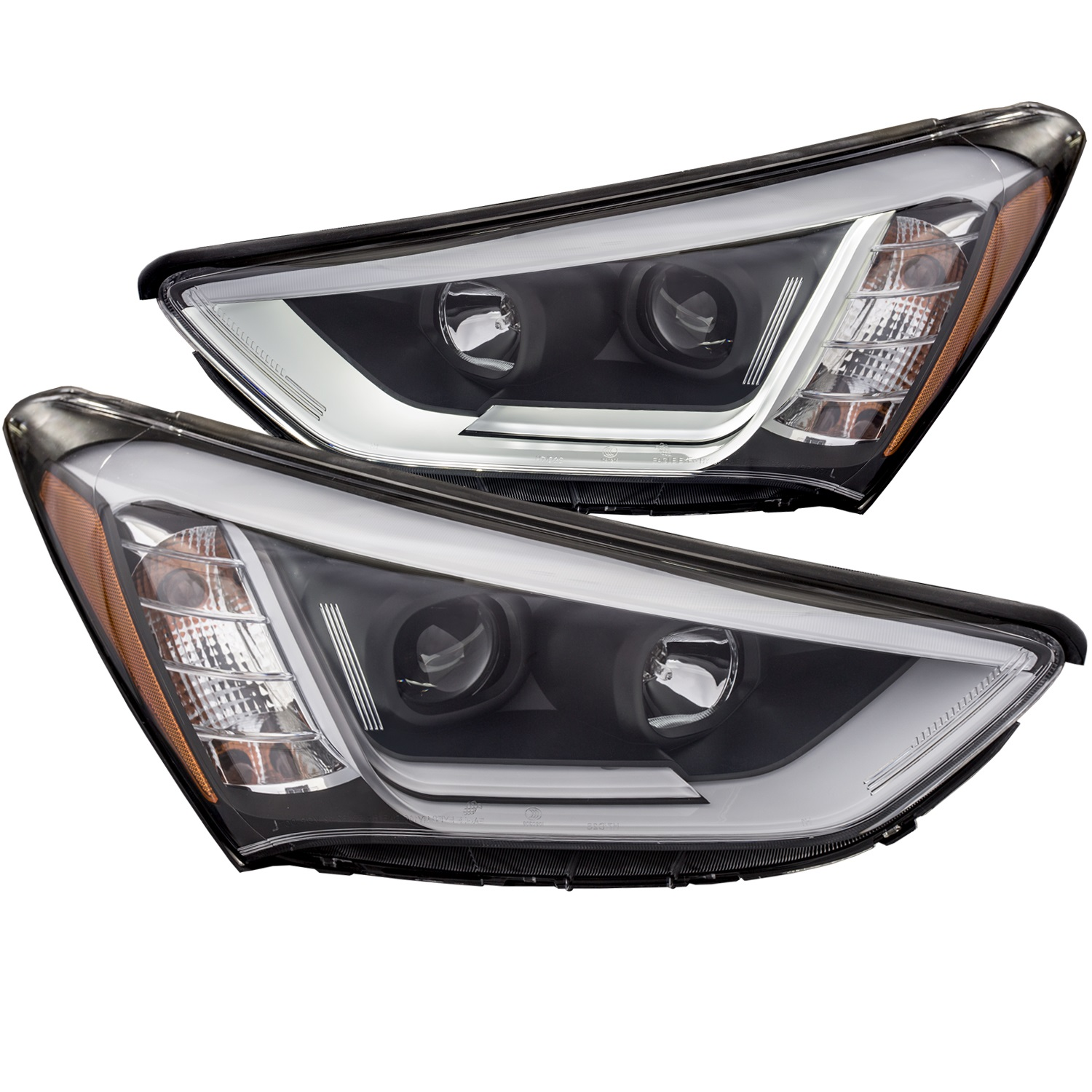 Anzo USA 111310 Projector Headlight Set Fits 13-15 Santa Fe