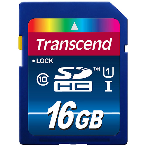 Transcend 16GB SDHC Class 10 UHS-I Flash Card