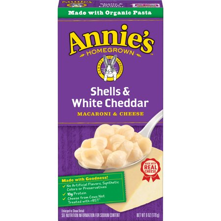 Cheddar Cheese Rice - Annie's Shells and White Cheddar Macaroni and Cheese Natural, 6 oz