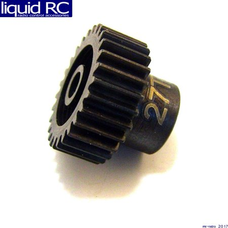 Hot Racing CSG1827 27t 48p Hardened Steel Pinion Gear 1/8 Bore Hardened Steel Pinion Gear