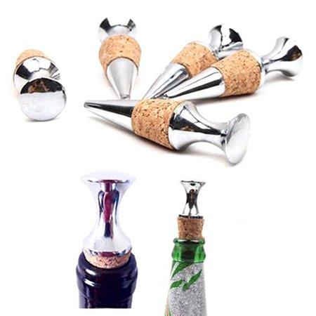 Micelec New Good Quality Zinc Alloy Wine Cork Bottle Stopper Wine Storage Seal Plug