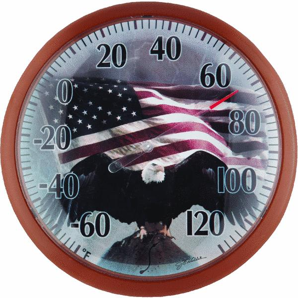 Springfield 13.25 Flag Dial Indoor & Outdoor Thermometer