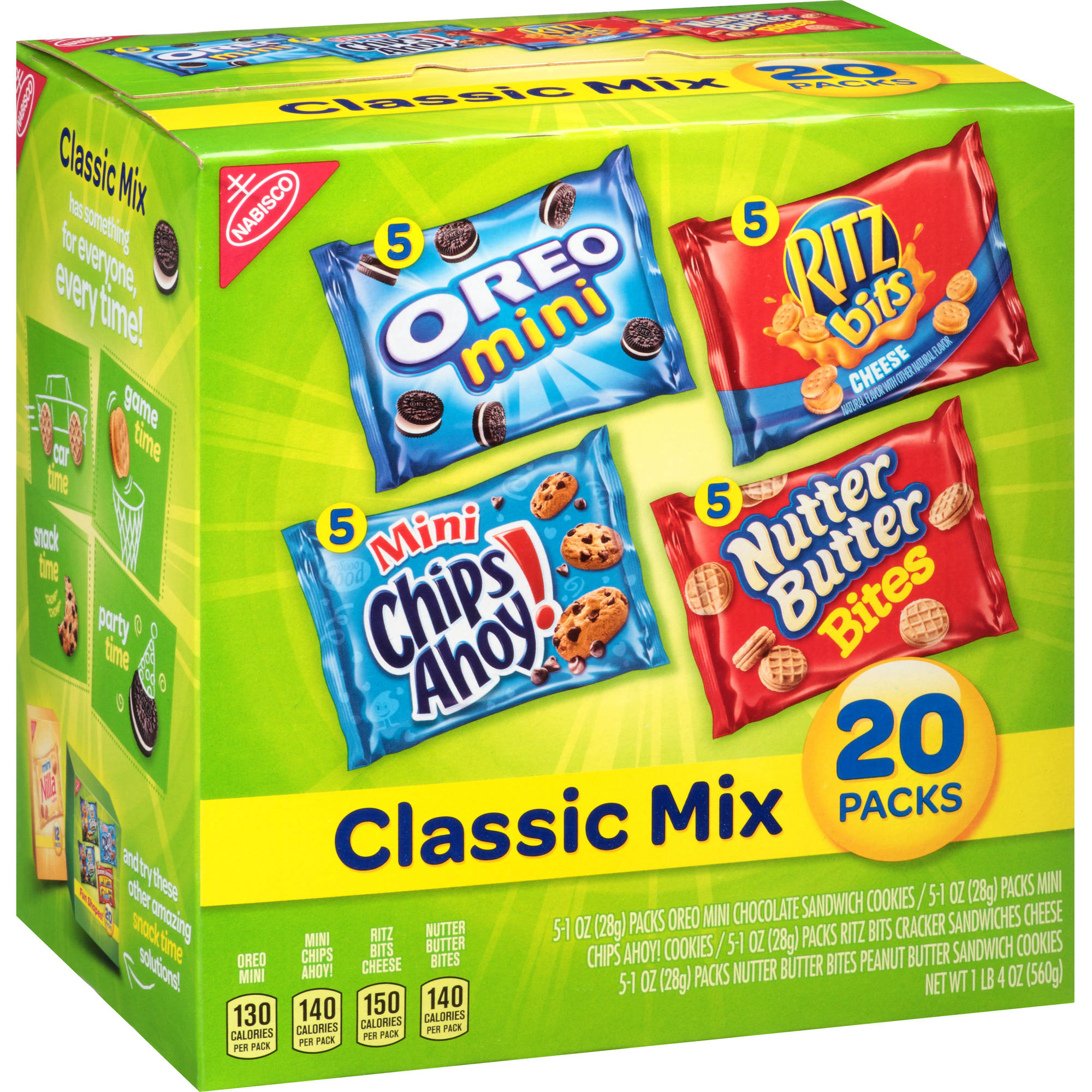 Nabisco Classic Mix Cookie Variety Pack, 1 oz, 20 count