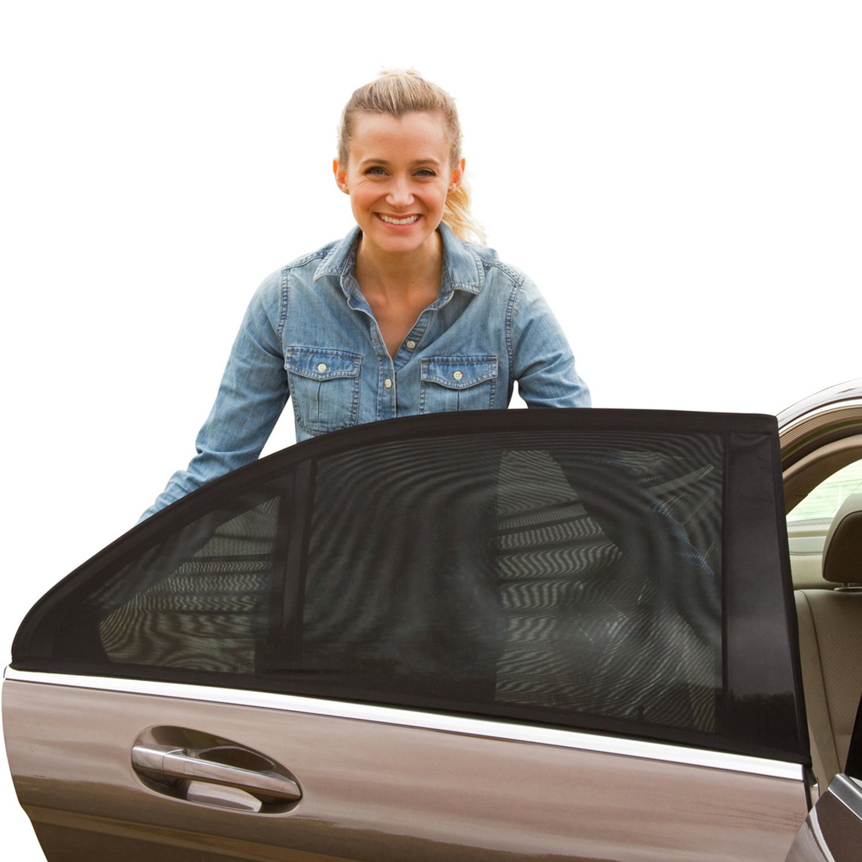 2x Kids Baby Children Car Window UV Protection Mesh Sun Blind Shades