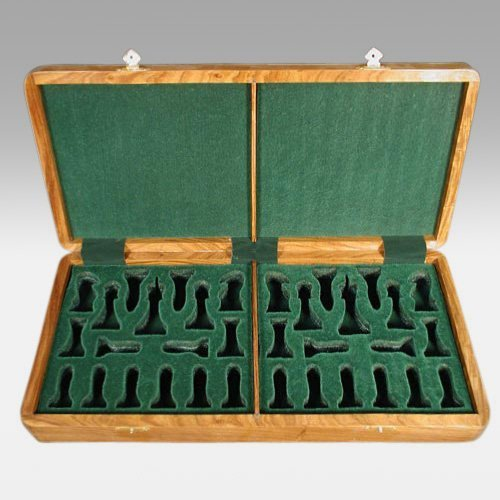 Luxury Wooden Chess Box - 4 In. King