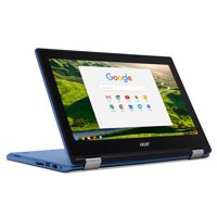 """Acer Convertible Chromebook 11.6"""" HD IPS Touchscreen, Intel Celeron N3060 1.6 GHz, 4GB Ram 32GB SSD, Intel HD Graphics, HDMI, WiFi, Webcam, Chrome OS- BLUE COLOR (Certified Refurbished)"""