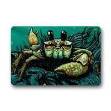 DEYOU Sea Crab Art Sea Ocean Animal Doormat Outdoor Indoor Floor Mats Non-Slip Bathroom Mats Size 23.6x15.7 Inch
