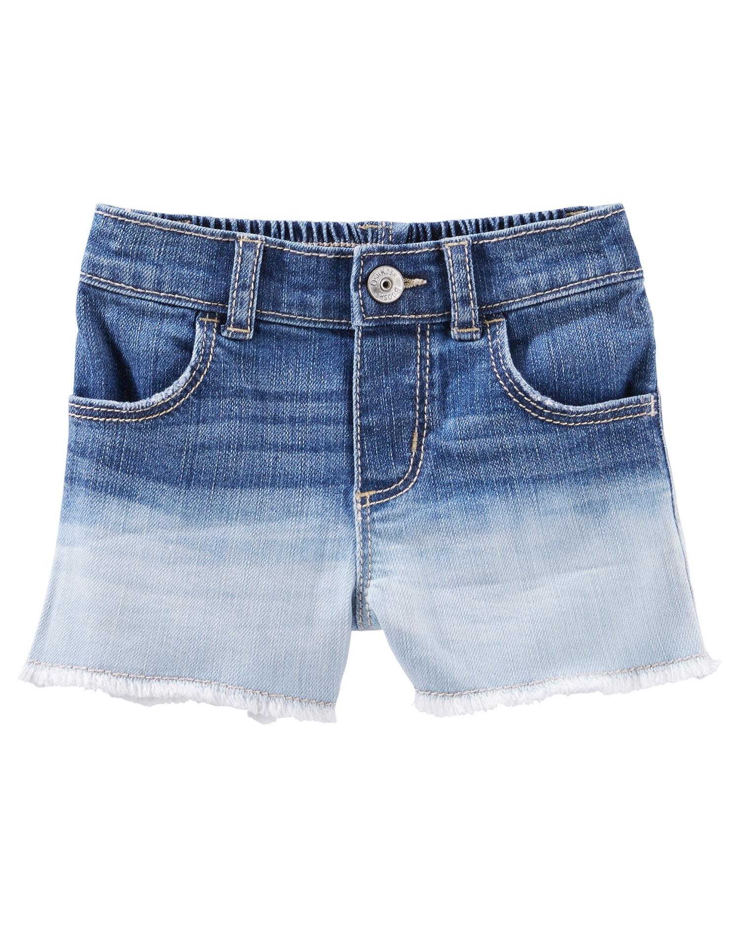 OshKosh B'gosh Baby Girls' Dip-dyed Denim Shorts
