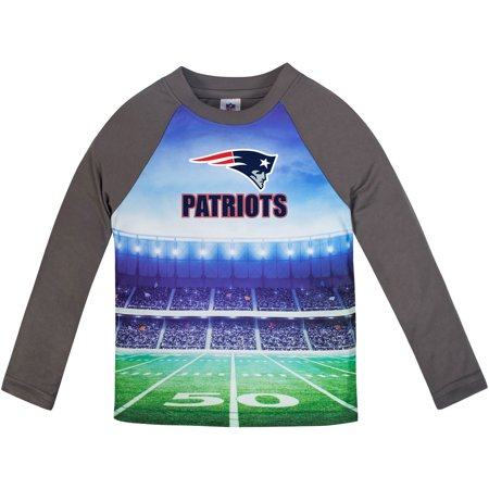 Toddler Gerber Gray New England Patriots Long Sleeve Stadium T-Shirt