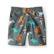365 Kids from Garanimals Dinosaur Printed Canvas Shorts (Little Boys & Big Boys)