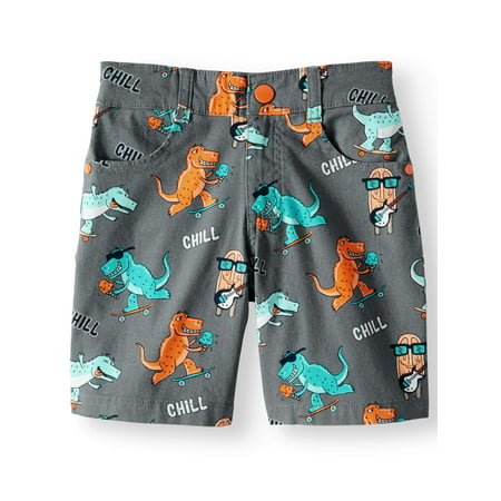 Dinosaur Printed Canvas Shorts (Little Boys & Big