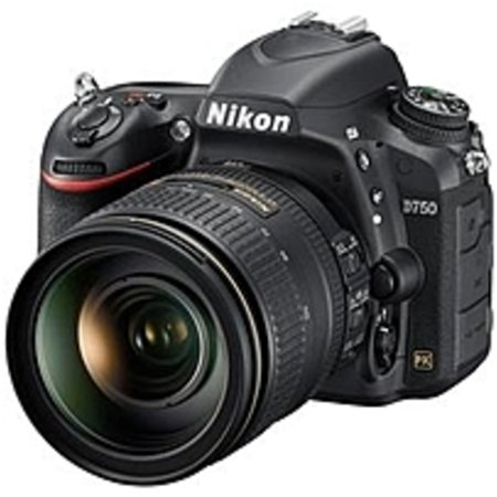 Nikon 1549 D750 24.3 Megapixel Digital SLR Camera with Lens - 24 mm-120 mm - 3.2in LCD - 16:9 - 5x Optical Zoom - i-TTL - 6016 x 4016 Image - 1920 x 1080 Video - HDMI - HD Movie