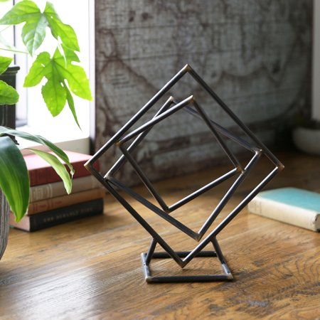 - Urban Trends Collection: Metal Abstract Sculpture Metallic Finish