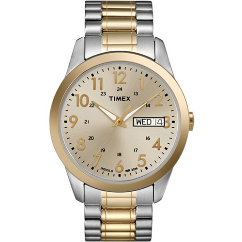 Timex Men's South Street Sport Watch, Two-Tone Stainless Steel Expansion Band