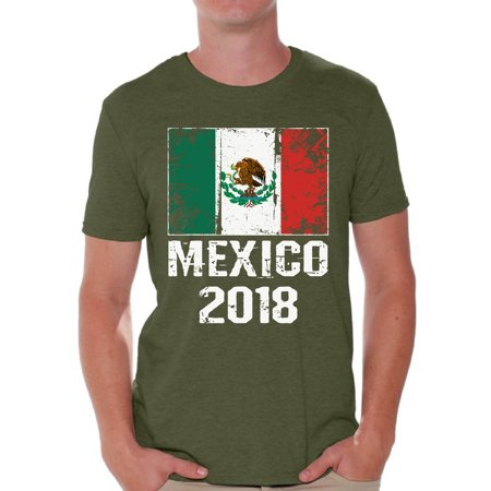 Awkward Styles - Awkward Styles Mexico Shirts Mexico 2018 Tshirts for Men  Mexican T shirt Tops Mexico Flag Shirt for Soccer Fans - Walmart.com ad5a2d775