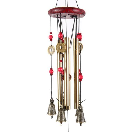 MarinaVida wooden rust-proof copper alloy Chinese wind wind chime](Wooden Chimes)