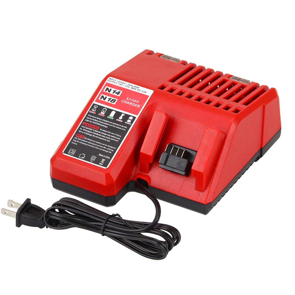 Topbatt M18 Battery Charger for Milwaukee 14V 18v Lithium ion 48 11 1815 48 11 1840