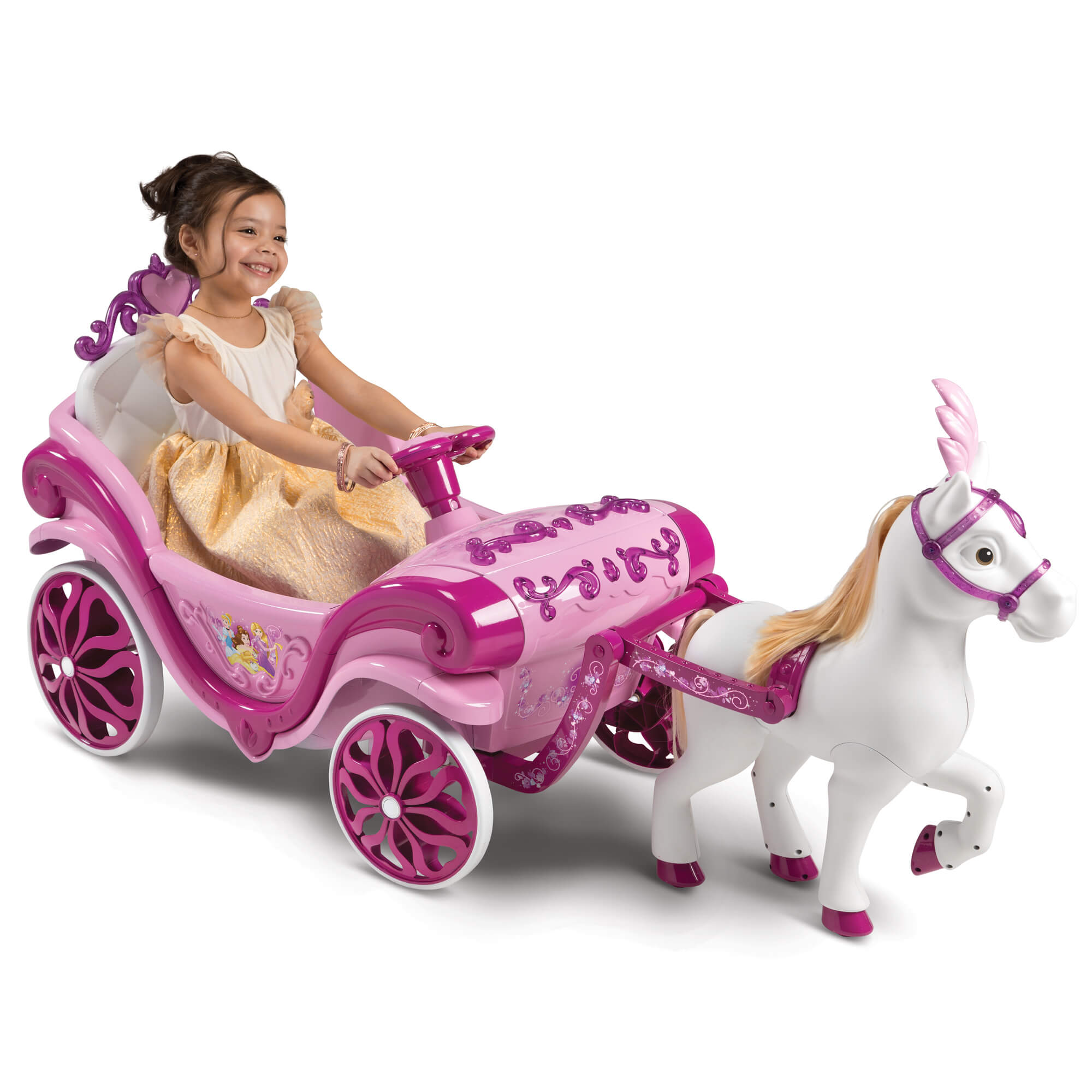 Disney Princess Girls Royal Horse and Carriage Girls Ride-On Toy by Huffy by Huffy