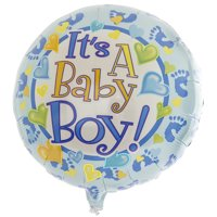 It's a Baby Boy Feet 18in Mylar Double Sided Balloon