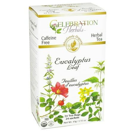 Celebration Herbals Tea Leaf Eucalyptus bio sans Caféine 24 sachets de thé à base de plantes