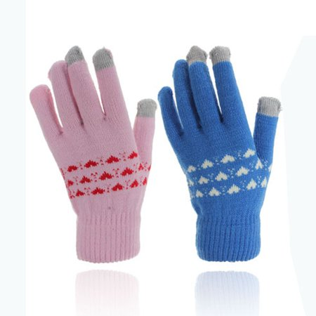 1 Pair Magic Unisex Warm Thermal Knit Touch Screen Gloves Stretch for Smartphone fit for Winter