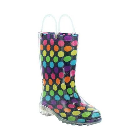 Dot Booty (Western Chief Girls' Lighted Darling Dot Rain Boot)