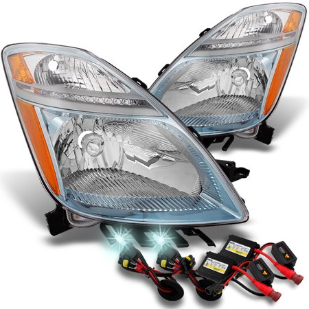 Fits 06-09 Toyota Prius Halogen Type Clear Headlight Replacement Pair+8000K