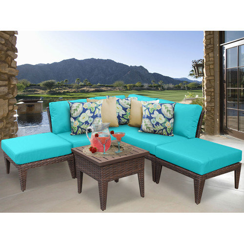 TK Classics Manhattan 6 Piece Seating Group with Cushion