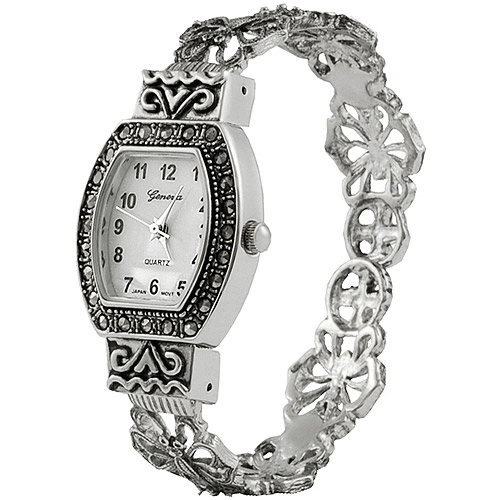 Brinley Co. Women's Convex Marcasite Watch