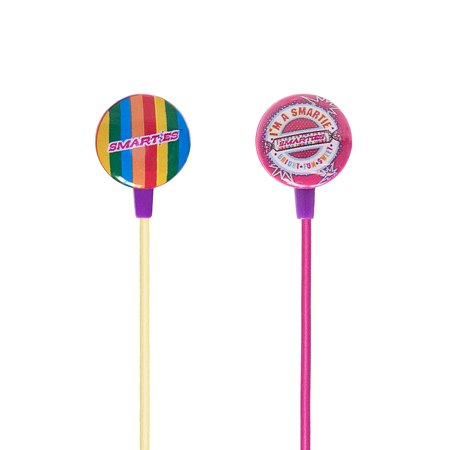 iHip SMARTIES Candies Stereo Earbud with Built-in Mic for iPhone, iPad, iPod, Samsung or any Smartphone, MP3 Player or Tablet