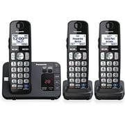 Panasonic, PANKXTGE233B, KXTGE233B Digital Cordless Answ. System, 1, Black