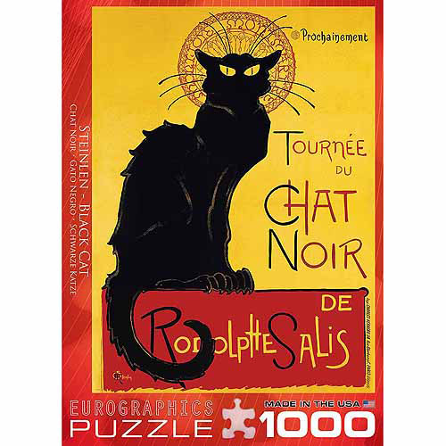 EuroGraphics Chat Noir by Steinlen 1000-Piece Puzzle