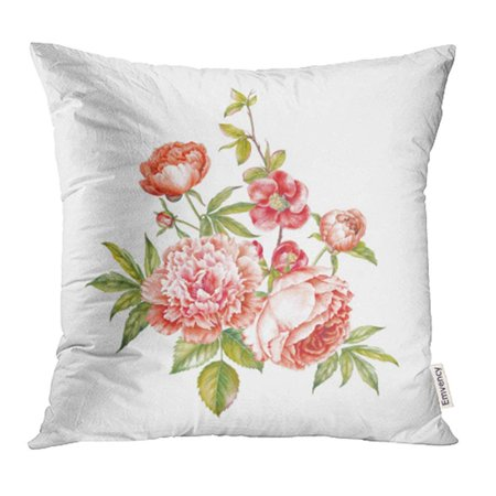 ARHOME Vintage Garland Blooming Roses Peonies Sakura Sign Flower Over Pillowcase Cushion Cases 16x16 inch