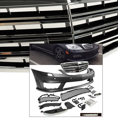 - AMG Style Front Bumper w Grille Complete S Class W221 2007-2013 Fascia Body Kit