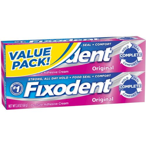 Fixodent Original Denture Adhesive Cream, 4.8 oz, 2 ct