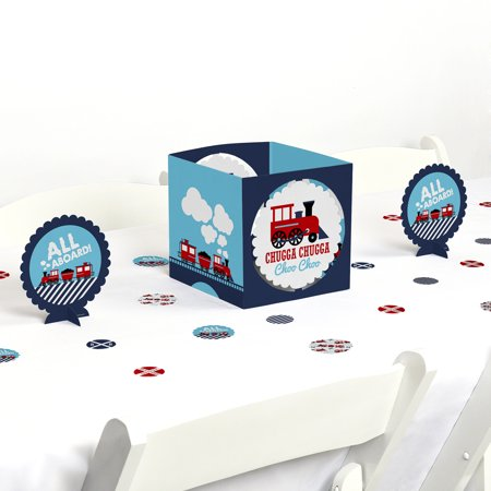 Thomas The Train Centerpieces (Railroad Party Crossing - Steam Train Birthday Party or Baby Shower Centerpiece & Table Decoration)