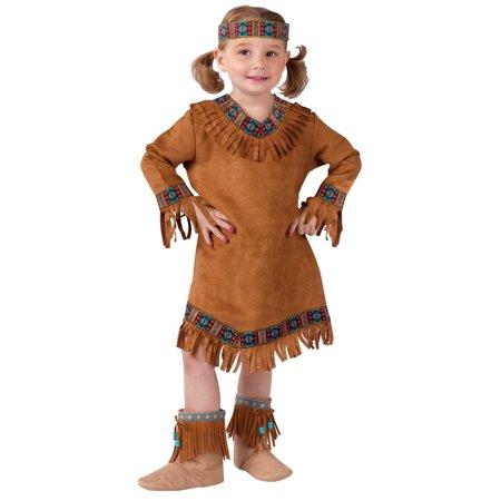 Fun World Costumes Girls Native American Girl Costume, Brown 8-10 (Native Girl Costume)