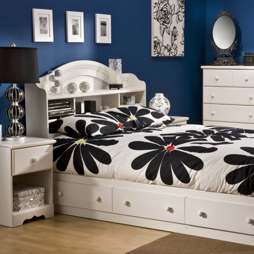 South Shore Summer Breeze Mates Vanilla Bookcase Bed Collection